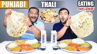PUNJABI THALI EATING CHALLENGE | Veg Punjabi Food Eating Competition | Food Challenge