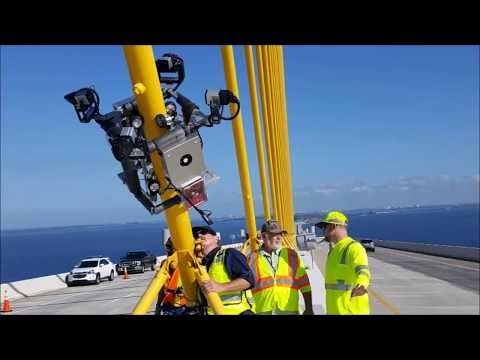 Cable Stay Bridge inspection videos