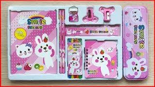 Đồ chơi BỘ DỤNG CỤ HỌC TẬP 14 MÓN THỎ CONY, hộp đựng bút, thước, màu, bút, sổ..Toys kids (Chim Xinh)