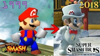 Evolution of the ORIGINAL 12 Smash Bros Characters (Smash 64 - Smash Ultimate)