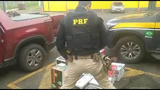 PRF apreende, na BR 290, em Porto Alegre, bebidas importadas que ingressaram ilegalmente no Brasil