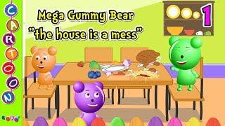 Cute mega gummy bear family the house is a mess finger family song many gummy bear videos ◕‿◕ KidsF