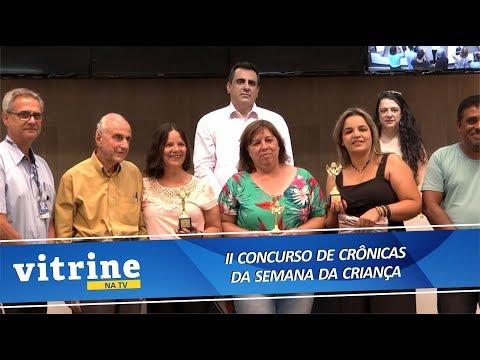Imagem Premiação II Concurso de Crônicas da Semana da Criança - VITRINE NA TV 06/11/2018