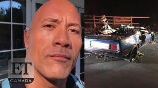 Dwayne Johnson Reacts To Kevin Hart's Car Crash