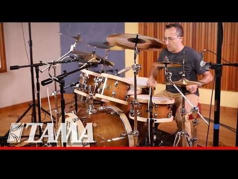 "Tama SLP Drum Kit 5 Drums ""Studio Maple"" - Gloss Sienna Finish"
