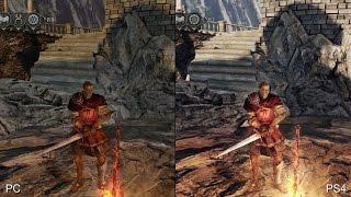 [60fps] Dark Souls 2 PS4 Remaster vs Original PC Version Real-Time Comparison
