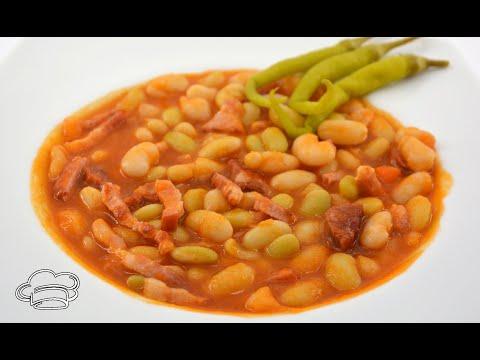 Como cocinar pochas con verduras y con carne. Dos recetas en una