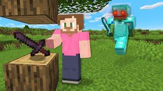 Minecraft Speedrunner VS Hunter But Drops Are Random!