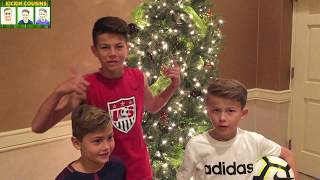 Xmas Special! Soccer Challenges 2 v 1 Epic Ballroom Battle with Forfeit!