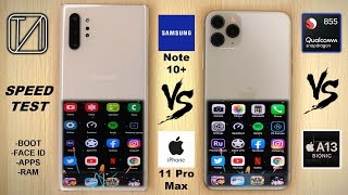 Samsung Galaxy Note 10+ vs iPhone 11 Pro Max Speed Test