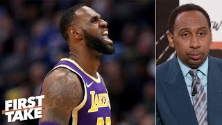 LeBron has 'one of the worst games' of his career, Stephen A. worried about Lakers | First Take