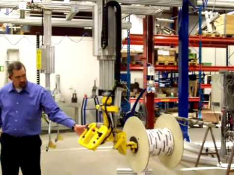Movomech MechLift Industrial Manipulator - Reel Handling - Rotation Demonstration