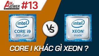 Sự khác biệt giữa CPU Core i và Xeon? Máy bị màn hình xanh! | Ask and Answer #13