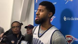 Thunder - Paul George talks Game 3 and returning home