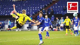 Erling Haaland is crazy! Incredible Volley Goal in Schalke vs. Dortmund