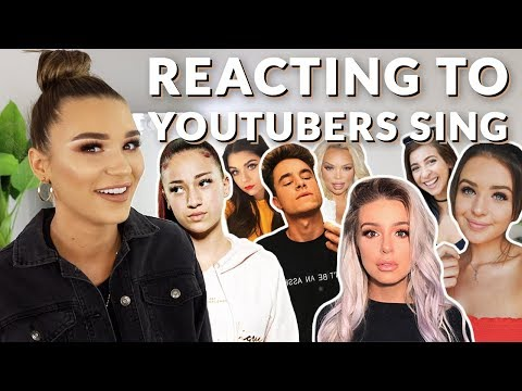 REACTING TO YOUTUBERS SING *Didn't Expect This...*