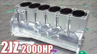 2000HP Supra Billet 2JZ Engine Build - Bulletproof 2JZ for Streetable Supra!