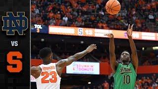 Notre Dame vs. Syracuse Basketball Highlights (2017-18)