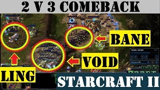 Hard Pressure Hold Segways into Unlikely Comeback - StarCraft II (2 v 3 - Net Drop)