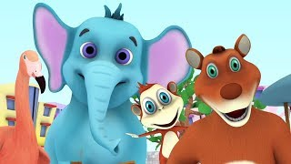 We're going to the Zoo - Animal Songs | Kindergarten Nursery Rhymes for Kids | Little Treehouse