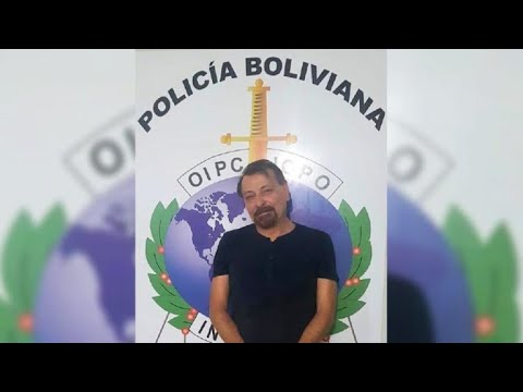 Picture of Cesare Battisti after he was arrested in Bolivia