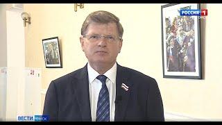 С предстоящим праздником Победы ветеранов и всех омичей поздравил председатель городского Совета Владимир Корбут