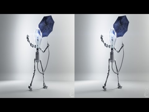 AK3D Selfillumination - a 3d animated short film in Stereo 3D CGI Shortfilm YT3D by www.AK3D.de