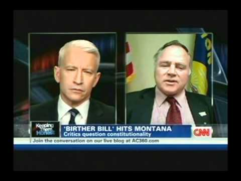 Anderson Cooper OWNS  Montana 'Birther' Bob Wagner - February 16, 2011