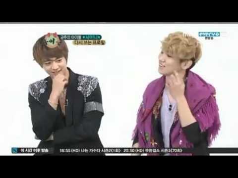 SHINee's Key Aegyo when he's hungry! @ Weekly Idol