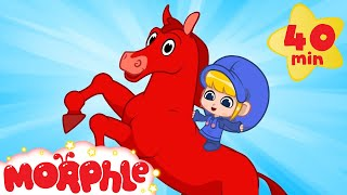 Morphle The Magic Racehorse - My Magic Pet Morphle | Cartoons For Kids | Morphle TV | BRAND NEW