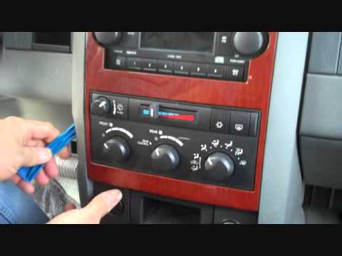dodge durango stereo removal 2004 2007 youtube. Black Bedroom Furniture Sets. Home Design Ideas