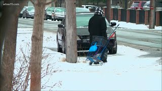 'We want to be safe, warm' Homeless look for shelter during Louisville winter storm