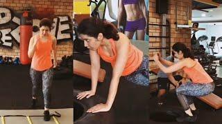 Tollywood actress Raashi Khanna latest gym workout video..