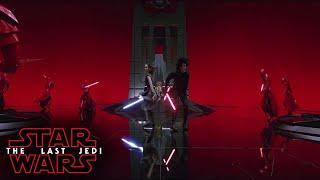 (HD) Star Wars VIII The Last Jedi | Rey and Kylo Ren team up | Snoke's Throne Room