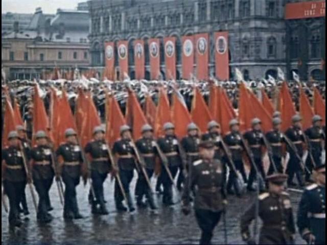 Парад Победы 1945 года в цвете