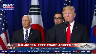 WATCH: President Trump Clinches First Trade Deal With South Korea