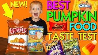 Pumpkin Spice Ruffles!! Yummy Fall Foods Taste Challenge    Family Fun Pack