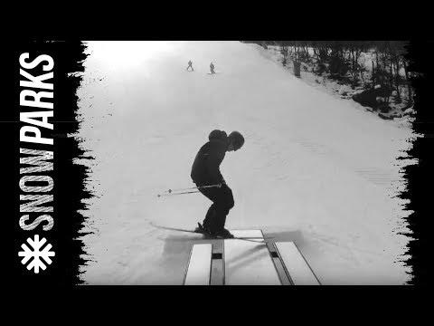 Anders Backe in Snow park red Hemsedal
