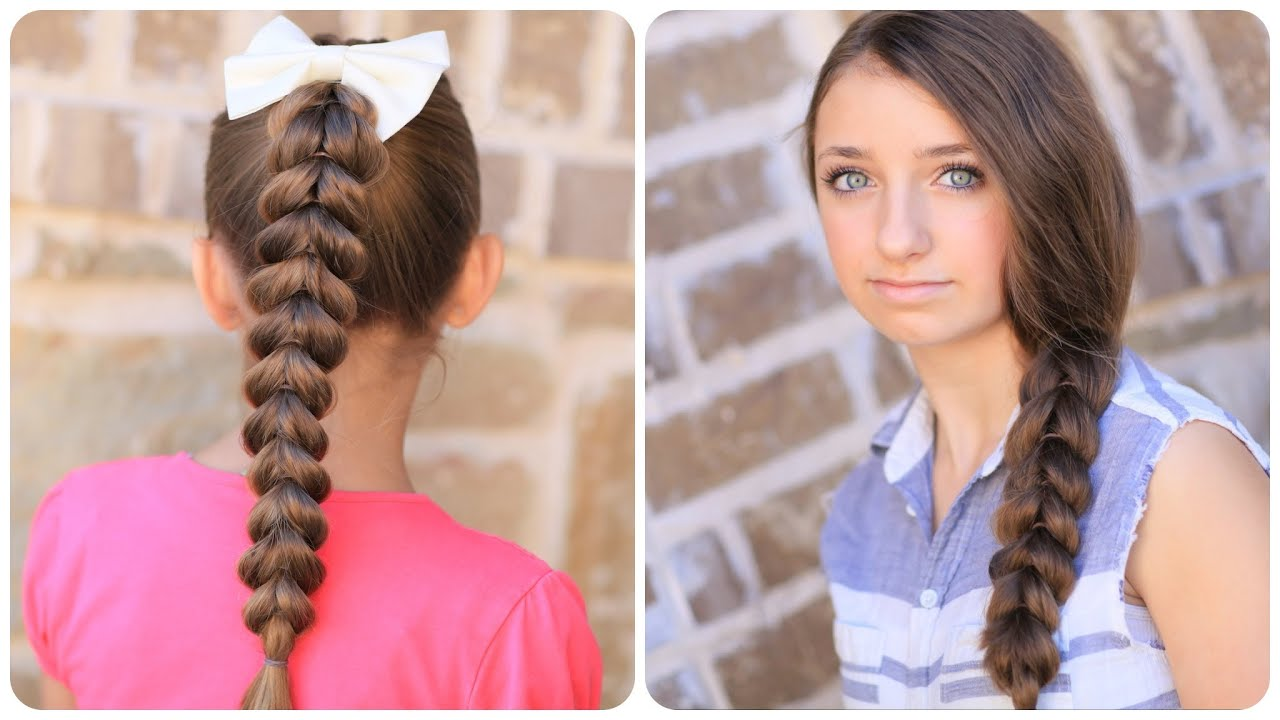 Cute Hair Styles For Medium Hair: How To Create A Pull-Through Braid