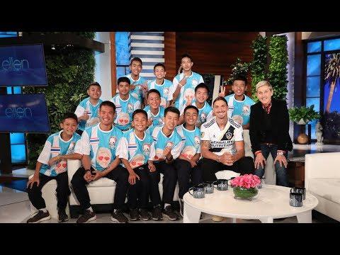 Ellen Talks to Thai Soccer Team in Their First In-Studio Interview Since Cave Rescue