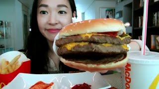 Mcdonalds Double Quarter Pounder Mukbang /맥도날드 더블쿼터파운더
