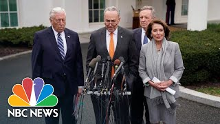 Chuck Schumer: President Donald Trump 'Got Up And Walked Out' Of Meeting | NBC News