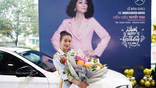 NSUT Tuyết Thu  mua xe Mercedes E300 mừng tuổi mới hạnh phúc viên mãn bên chồng con