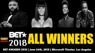 BET★ Awards 2018 - ALL WINNERS | Black Entertainment Television Awards 2018 | ChartExpress
