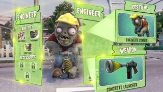 Plants vs Zombies Garden Warfare - Behind the scenes with the zombie classes