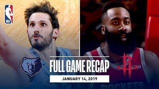 Full Game Recap: Grizzlies vs Rockets | James Harden Goes Off For 57 Points