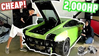 I Bought a Wrecked 2000 HP Twin Turbo UGR Lamborghini At Auction!