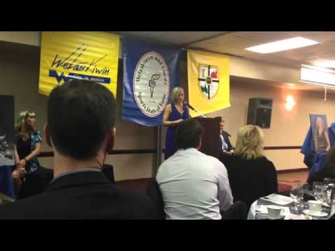 Natalie Reimer Anderson's acceptance speech for the Wetaskiwin Sports Hall of Fame