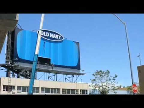 Old Navy billboard installation-San Francisco