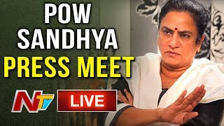 POW Sandhya Press Meet on Jeevitha Comments - LIVE..